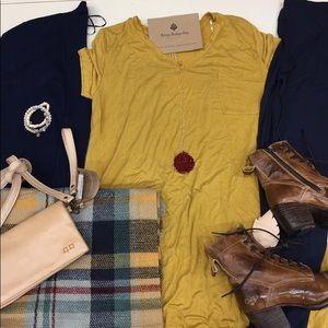 NWT short sleeve Mustard tunic